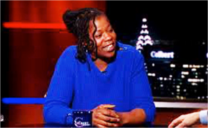 Naquasia LeGrand, 22, a fast food worker in New York City, recently appeared on the Colbert Report.